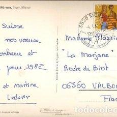 Sellos: SUIZA & MARCOFILIA, MÜRREN, EIGER, MÖNCH, MURREN, VALBONNE FRANCIA 1982 (35791). Lote 143899954