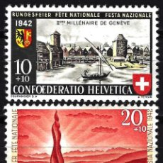 Timbres: SUIZA 1942 YVERT 378/379 NUEVOS MLH - PRO PATRIA. Lote 146491297