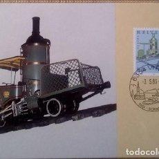 Sellos: SUIZA - CARTA POSTAL - 1983 - FERROCARRIL DE CREMALLERA DE VITZNAU - RIGI - SIN USAR. Lote 146018006