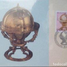 Sellos: SUIZA - CARTA POSTAL - 1983 - GLOBO DE CIELO DE JOST BÜRGI - SIN USAR CON SELLO. Lote 146019470