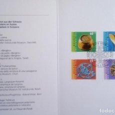 Sellos: SUIZA - 4 SELLOS DE ARTE POPULAR DE SUIZA - NUEVOS. Lote 146021794