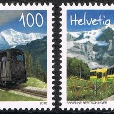 Sellos: [CF7342] SUIZA 2018, SERIE TRENES (MNH). Lote 146470826