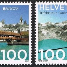 Sellos: [CF7345] SUIZA 2018, SERIE EUROPA: PUENTES (MNH). Lote 146601354