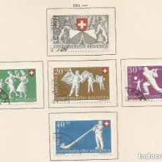 Sellos: SUIZA. 1951. YV Nº 507/511. CAT 25€. Lote 148761902