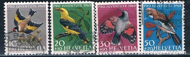 SUIZA SELLO USADO 1969 YVES 846 A 849 SERIE (Sellos - Extranjero - Europa - Suiza)