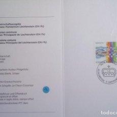 Sellos: SUIZA - EDICIÓN DE LA COMUNIDAD 1995 - SUIZA + LIECHTENSTEIN - TARJETA PLEGABLE . Lote 149931498