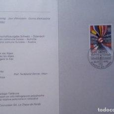 Sellos: SUIZA - EDICIÓN DE LA COMUNIDAD 1992 - SUIZA + AUSTRIA - TARJETA PLEGABLE - . Lote 149931978
