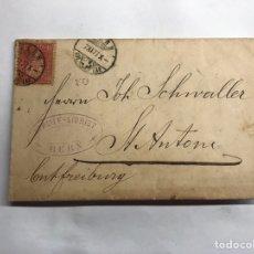 Sellos: SOBRE FACTURA CIRCULADO. STREIFF-SIGRIST. BERNA (SUIZA) A.1878. Lote 151914092