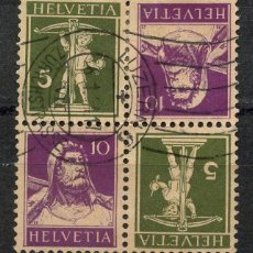 Sellos: SUIZA, SELLO, GUILLAUME TELL, TETE BECHE, HELVETIA, 1930, SUISSE STAMP. Lote 151985590