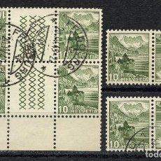 Sellos: SUIZA, SELLO, LANSCAPES, TETE BECHE, COMBINACIONES, HELVETIA, 1948, SUISSE STAMP. Lote 152001098