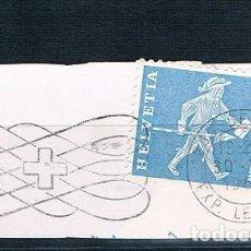 Sellos: SUIZA 1960 BONITO FRAGMENTO USADO YVES 643. Lote 152055838