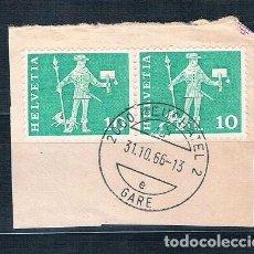 Sellos: SUIZA 1960 BONITO FRAGMENTO USADO YVES 644. Lote 152055870