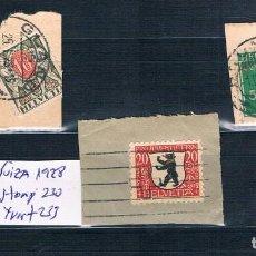 Sellos: SUIZA 1909/1924/1928 FRAGMENTOS . Lote 152056446