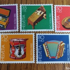 Sellos: SUIZA :YT. 1225/29 MNH. MUSICA. Lote 154101253
