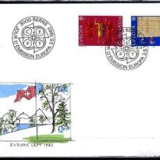 Sellos: 1982 SUIZA SOBRE PRIMER DÍA CIRCULACIÓN SPD-FDC MICHEL 1221/2 YVERT 1150/1 - CEPT C.E.P.T EUROPA. Lote 154132122