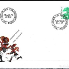 Sellos: 1982 SUIZA SOBRE PRIMER DÍA CIRCULACIÓN SPD-FDC MICHEL 1241 YVERT 1170 - FOLKLORE. Lote 154134894