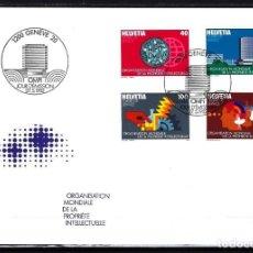 Sellos: 1982 SUIZA SOBRE PRIMER DÍA CIRC. SPD FDC YVERT S 457/460 - OMPI ORG MUNDIAL PROPIEDAD INTELECTUAL. Lote 154332434
