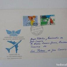 Sellos: SOBRE. FEDERACIÓN INTERNACIONAL DE SOCIEDADES AEROFILATELICAS. SUIZA 1983. Lote 154623682
