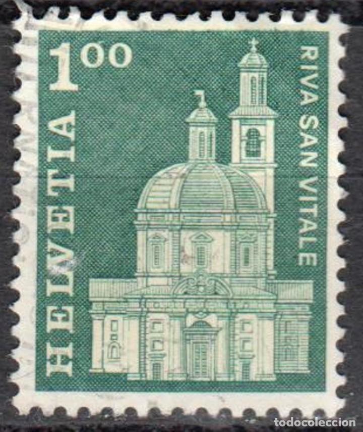 SUIZA - UN SELLO - IVERT #821 - ***HISTORIA POSTAL - MOTIVOS Y MONUMENTOS** - AÑO 1968 - USADO (Sellos - Extranjero - Europa - Suiza)