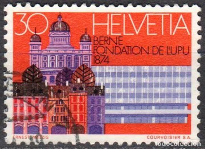 SUIZA - UN SELLO - IVERT #956 - ***CENTENARIO UNION POSTAL INTERNACIONAL*** - AÑO 1974 - USADO (Sellos - Extranjero - Europa - Suiza)
