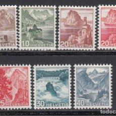Sellos: SUIZA,1938 - 1948 YVERT Nº 312, 461 / 466 /*/. Lote 159161694
