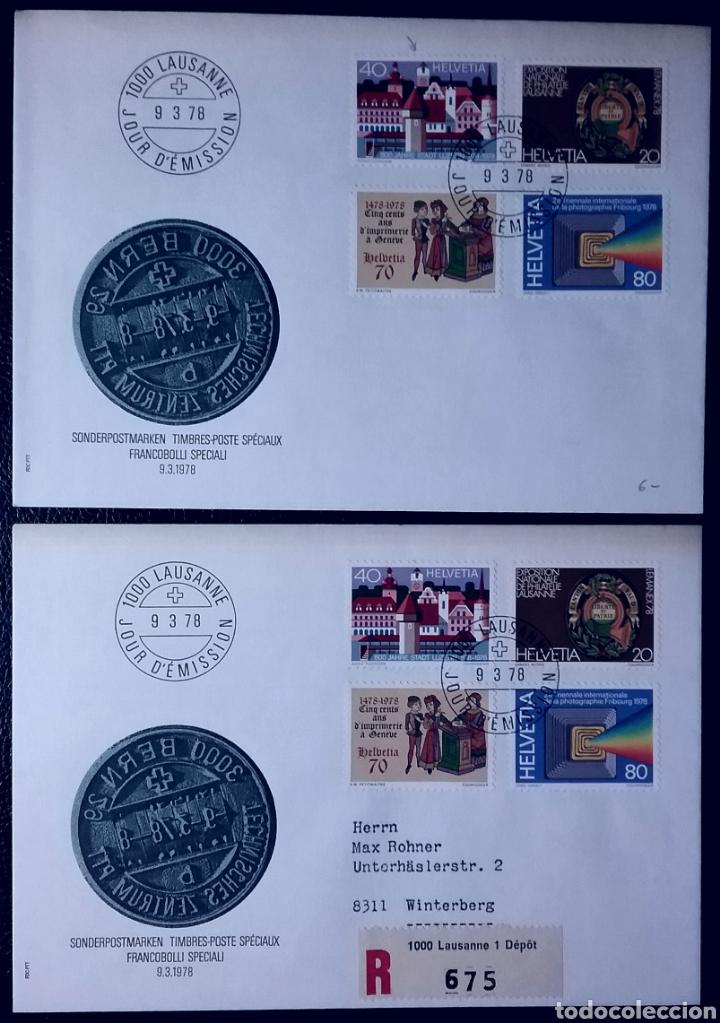 SOBRES DE PRIMER DÍA DE SUIZA 1978, EXPOSICIÓN NACIONAL DE FILATELIA LEMANEX'78 (Sellos - Extranjero - Europa - Suiza)
