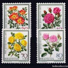 Stamps - SUIZA.- PRO JUVENTUD DE 1977 ( ROSAS FLORES ) NUEVA SIN CHARNELA. - 161449346