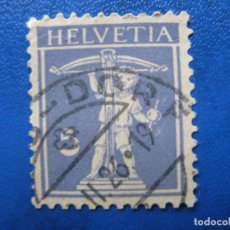Sellos: SUIZA, 1924 YVERT 197. Lote 161759422