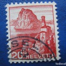 Sellos: SUIZA, 1938 YVERT 312. Lote 161771518