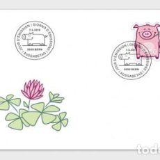 Sellos: SWITZERLAND 2019 - LUCKY PIG FDC. Lote 163528110