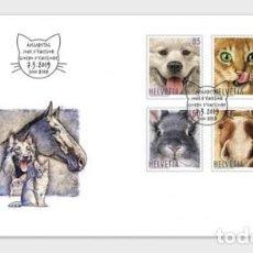Sellos: SWITZERLAND 2019 - ANIMAL FRIENDS FDC. Lote 163528462