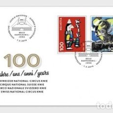 Sellos: SWITZERLAND 2019 - 100 YEARS SWISS NATIONAL CIRCUS KNIE FDC. Lote 163528642