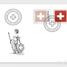 Sellos: SWITZERLAND 2019 - PRO PATRIA - THE SWISS FLAG FDC. Lote 163528786