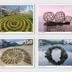 Sellos: SWITZERLAND 2019 - LAND ART STAMP SET MNH. Lote 163529230