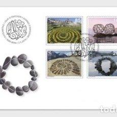 Sellos: SWITZERLAND 2019 - LAND ART FDC. Lote 163529266