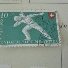 Stamps - SUIZA 1950, ZUMSTEIN Nº 47, PRO PATRIA-FIESTA NACIONAL. MATASELLADO - 164670870