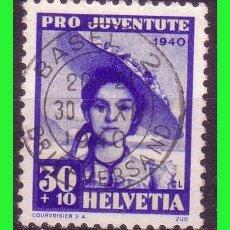 Sellos: SUIZA 1940 PARA LA JUVENTUD, YVERT Nº 357 (O) . Lote 165119998