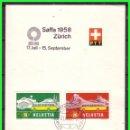 Sellos: SUIZA 1958 SAFFA, CON SERIE DE 1953, YVERT Nº 537 Y 538 (O) . Lote 165125198