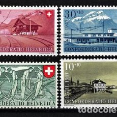 Timbres: 1947 SUIZA MICHEL MI 480/483 YVERT YT 437/440 MNH** NUEVOS SIN CHARNELA - PRO PATRIA PAISAJES. Lote 165597954