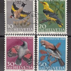 Sellos: SUIZA, 1969 YVERT Nº 846 / 849 . Lote 167164080