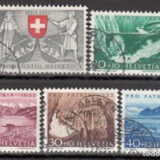 Sellos: SUIZA, 1953 YVERT Nº 531 / 535 . Lote 167164436