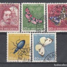 Sellos: SUIZA, 1956 YVERT Nº 581 / 585. Lote 167164644