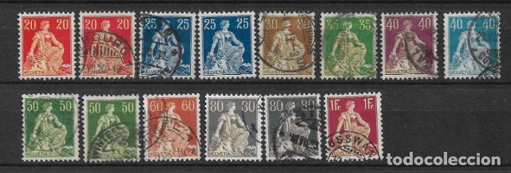 SUIZA 1907-25 USADO - 5/43 (Sellos - Extranjero - Europa - Suiza)