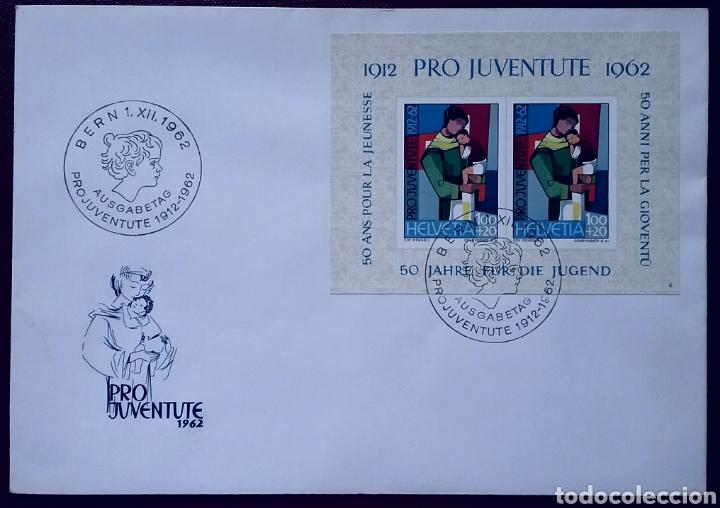 SOBRE DE PRIMER DÍA DE SUIZA PRO-JUVENTUD 1962, JUVENTUD (Sellos - Extranjero - Europa - Suiza)