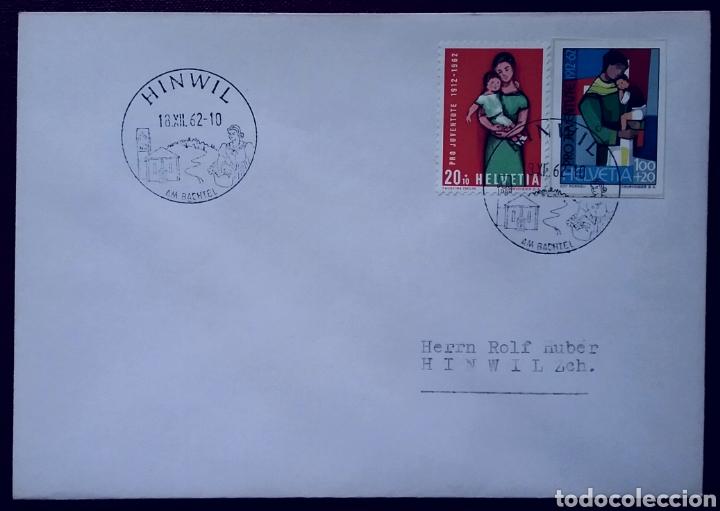 SOBRE DE SUIZA PRO-JUVENTUD 1962 (Sellos - Extranjero - Europa - Suiza)