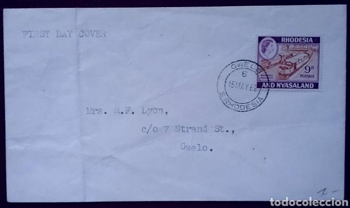SOBRE DE PRIMER DÍA DE RODESIA Y NIASALANDIA, 1962 (Sellos - Extranjero - Europa - Suiza)