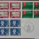 Sellos: SOBRE CONMEMORATIVO DEL DÍA DEL SELLO, SUIZA 1960, TEMAS UNIVERSIDAD, CÁNCER Y REFUGIADOS. Lote 168487357