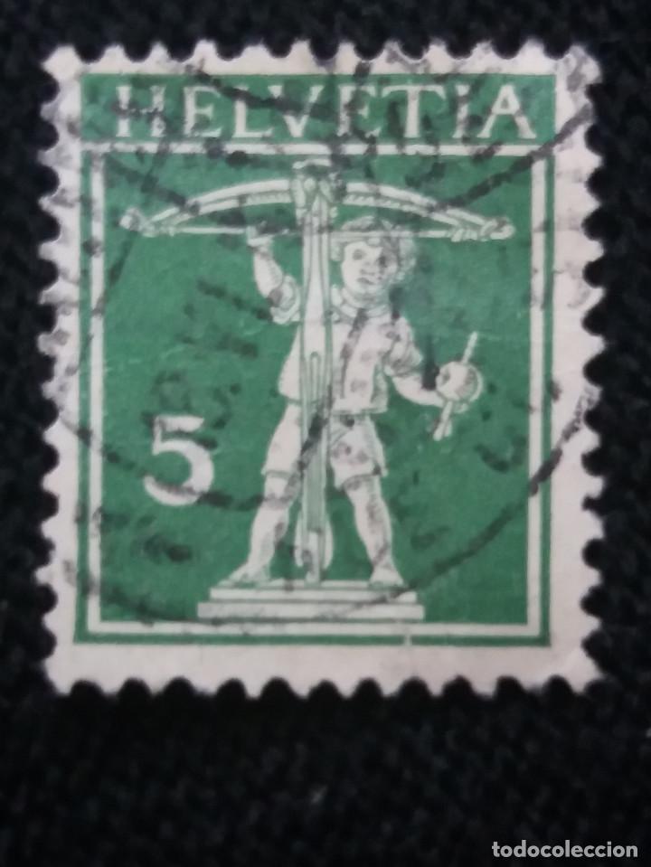 SUIZA, HELVETIA, 5, AÑO 1924. (Sellos - Extranjero - Europa - Suiza)