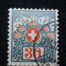 Sellos: SUIZA, HELVETIA, 30. MONTAIN, AÑO 1924,.. Lote 168741844