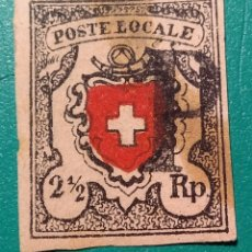 Sellos: SUIZA 1850. POSTE LOCALE 2,5 RP. YVERT 16.. Lote 169706888